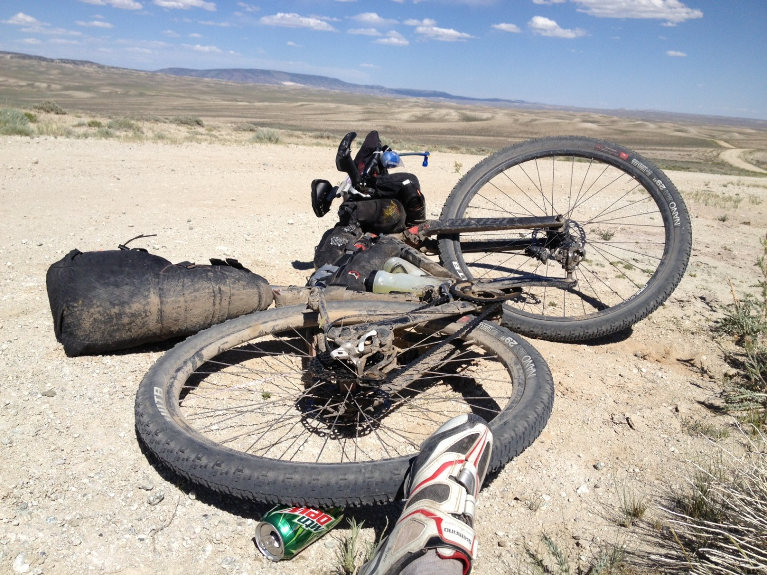Twin bottle cage adapters on the Tour Divide - Rest