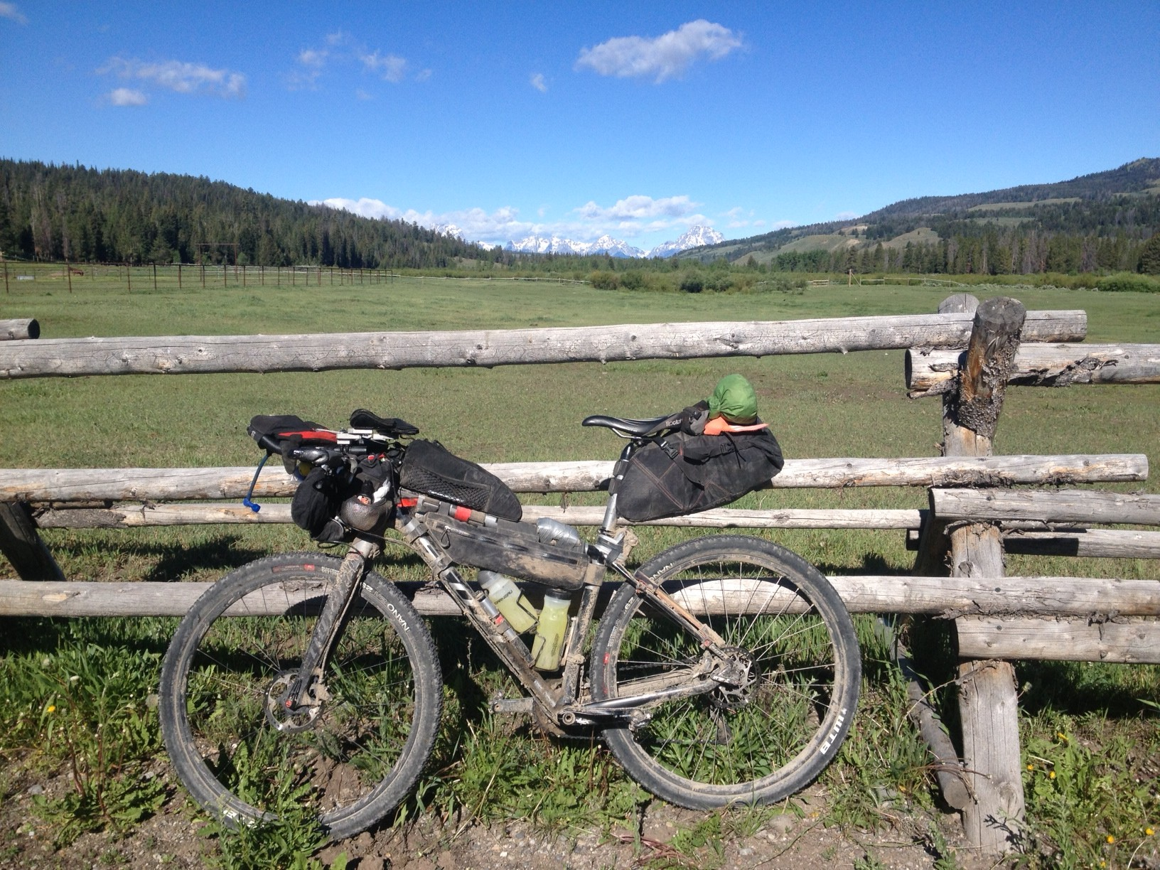 Twin bottle cage adapters on the Tour Divide